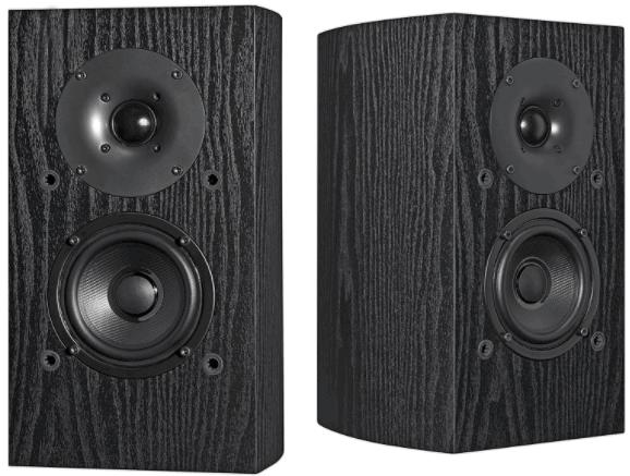 Pioneer Brand Black Shelf Speakers